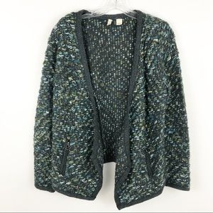 Anthropologie Moth knitted open front cardigan